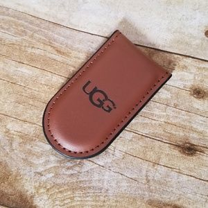 New UGG Leather Money Clip With Magnetic Closure